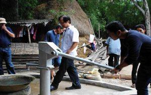 Cambodia Sponsoring Water Pump at Work