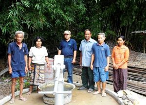 Cambodia Sponsoring Water Pump Front view