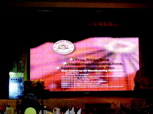 RENTAL INDOOR FOR CHIEF MINISTER INDUSTRY EXCELLENCE AWARD 2012 @ MELAKA