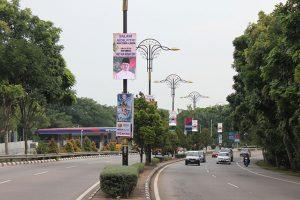 Led Lamp Post lights @ Melaka Malaysia