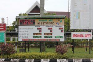 HSE Statistic Board in Melaka