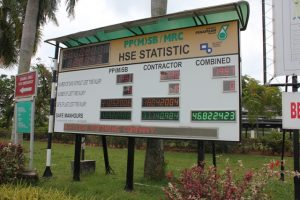 HSE Statistic Board @ Petronas Melaka