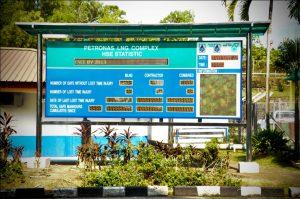 HSE Statistic Board @ Petronas LNG Bintulu