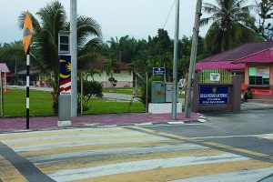 LED Lighting At Tiang Pedestrian Side View