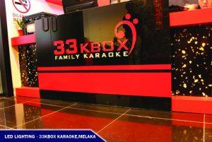 LED Lighting Front Entrance of 33KBOX