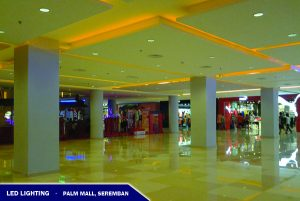 LED Lighting At Concourse of Palm Mall