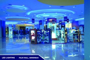 LED Lighting In Palm Mall Store