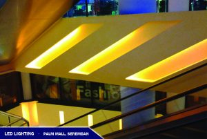 LED Lighting near Escalator Palm Mall Seremban