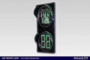 Animated Pedestrian Countdown Traffic light