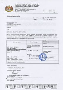 JKR Certification (Traffic)