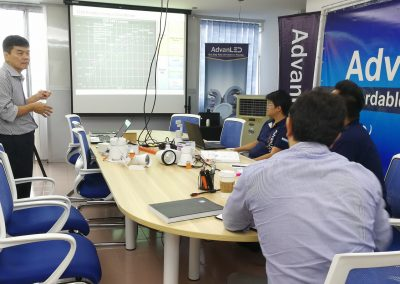 LED VISION TRAINING SESSION CONDUCTED BY MR.JAMES WONG, DIRECTOR
