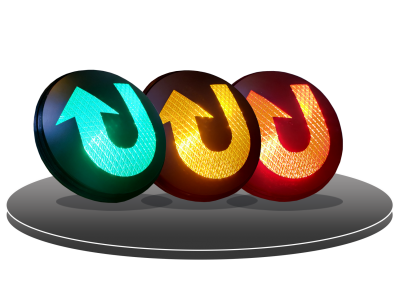 LED HI FLUX TRAFFIC LIGHT (U-TURN)