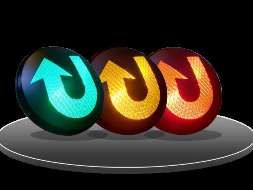 LED HI FLUX TRAFFIC LIGHT (U-TURN)