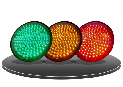 LED HI BRITE TRAFFIC LIGHT (FULL MOON, ARROW)